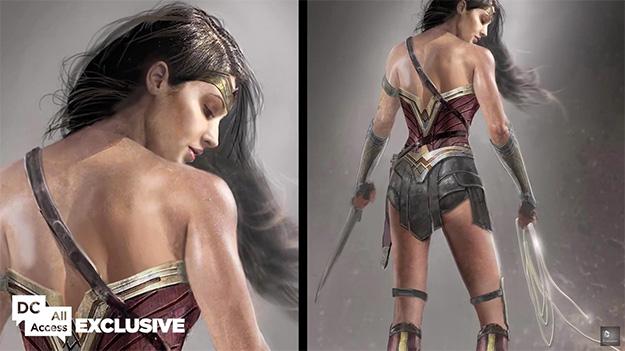 Espalda y espalda del traje de Wonder Woman #2