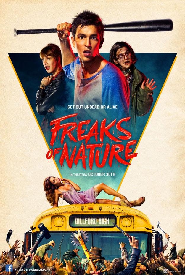 El cartel de Freaks of Nature mola