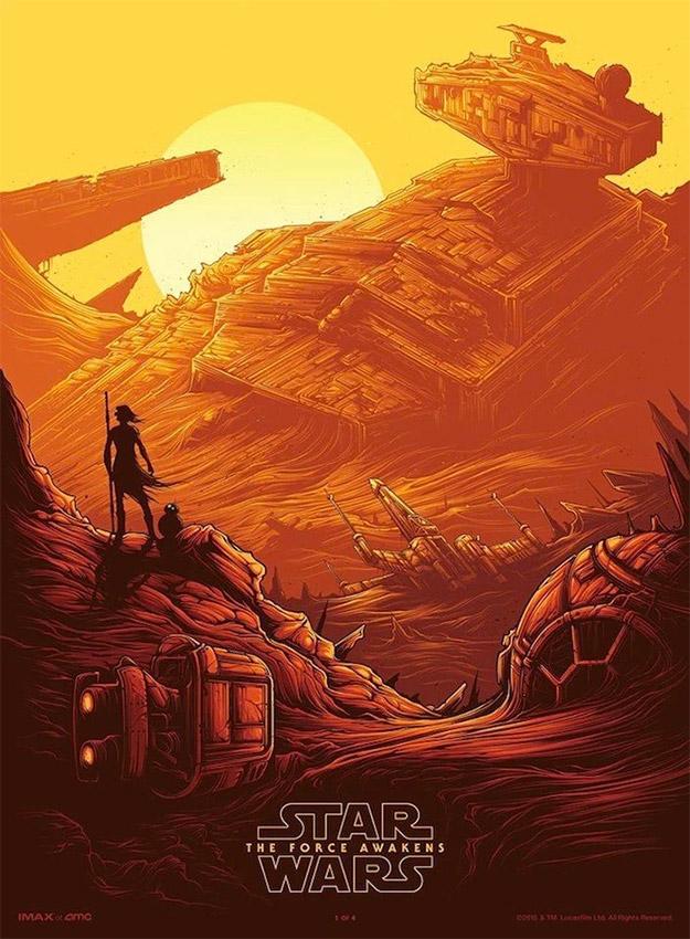 Cartel IMAX de Star Wars: El Despertar de la Fuerza... no me gusta