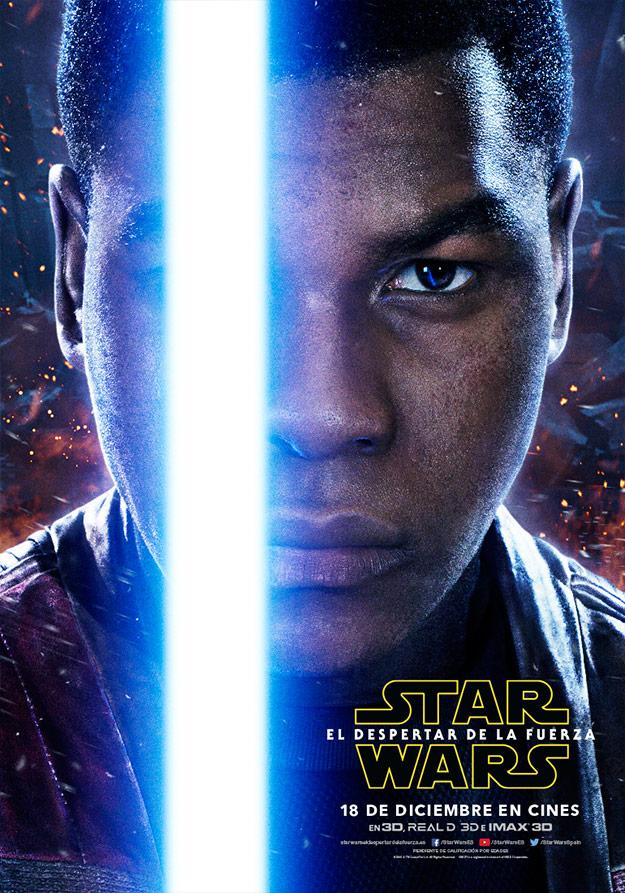 Cartel de Finn (John Boyega) en Star Wars: El Despertar de la Fuerza