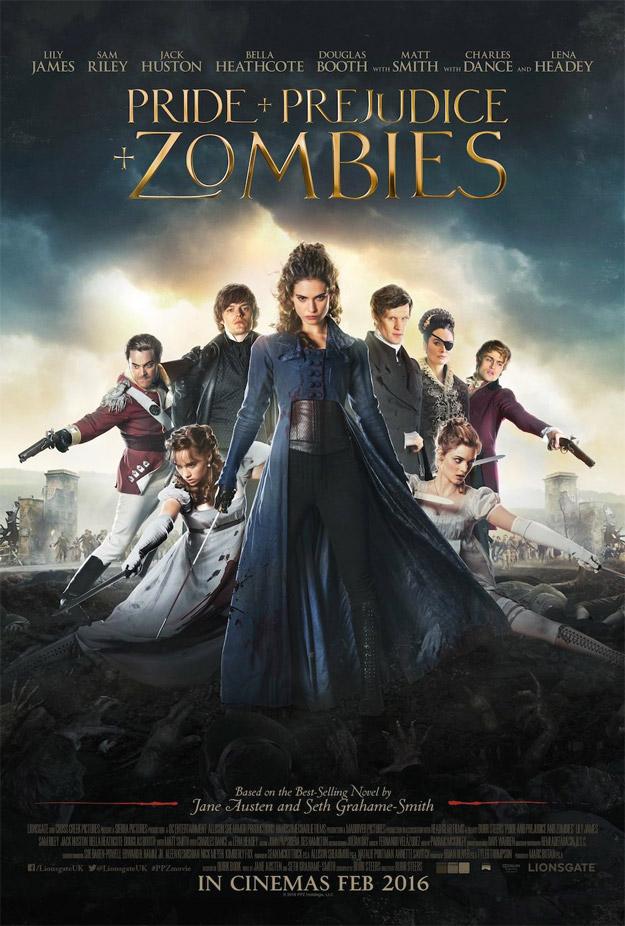 Otro cartel más de la curiosa Orgullo y prejuicio y zombis