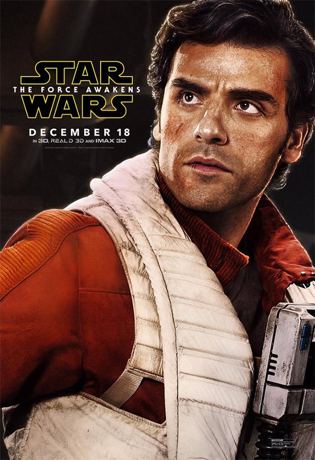 Poe Dameron (Oscar Isaac) en Star Wars: El Despertar de la Fuerza