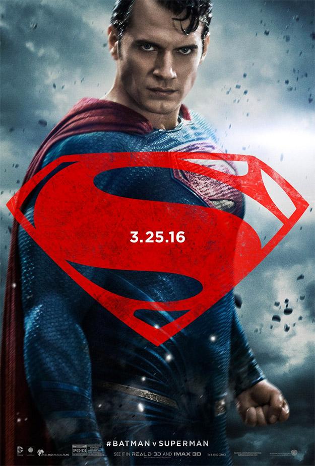 Superman luciendo flequillo para Batman v Superman: El Amanecer de la Justicia