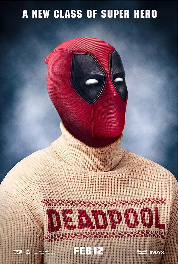 Deadpool con un jersey jersey a lo Darcy de cuello vuelto