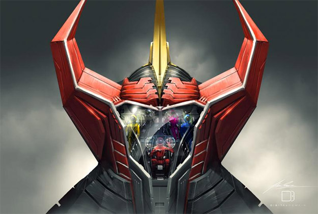 Visor frontal de Megazord por Alex Ruiz