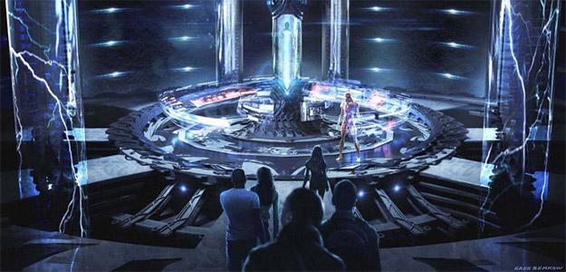 La sala de control de los Power Rangers