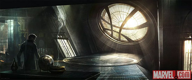 Stephen Strange visitando su Sancta Sanctórum antes de hacer trololó