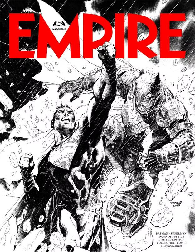 Flipante portada de la revista Empire obra de Jim Lee... ¡hay que comprarla!