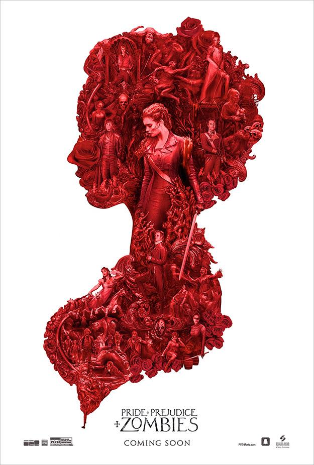 Nuevo cartel molón de Orgullo y prejuicio y zombis... francamente molón