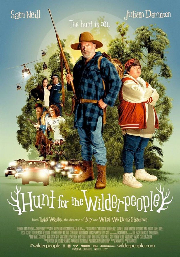 Nuevo cartel de Hunt for the Wilder People con web