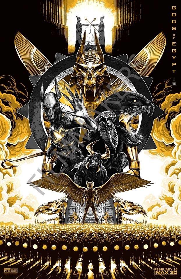 Cartel IMAX para Gods of Egypt de Alex Proyas
