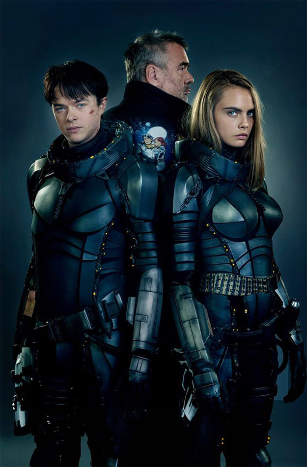 Dane DeHaan y Cara Delevingne en Valerian and the City of a Thousand Planets