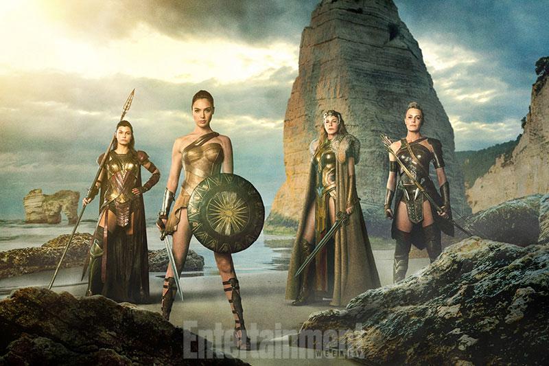 Melanipa, Diana, Hipólita y Antíope en Wonder Woman