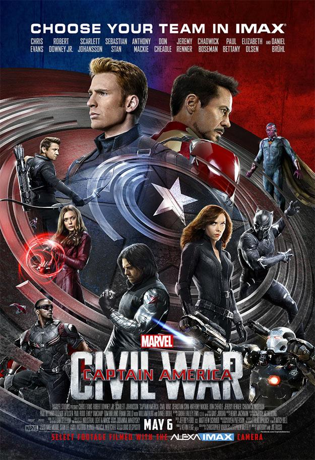 Póster IMAX de Capitán América: Civil War