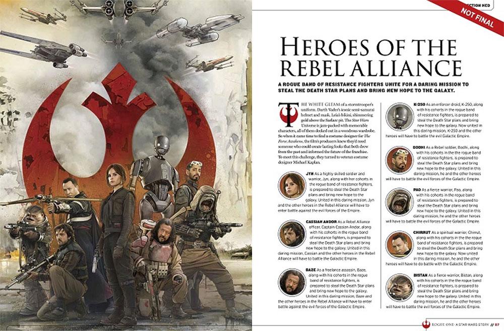 El lado rebelde en Rogue One: Una Historia de Star Wars