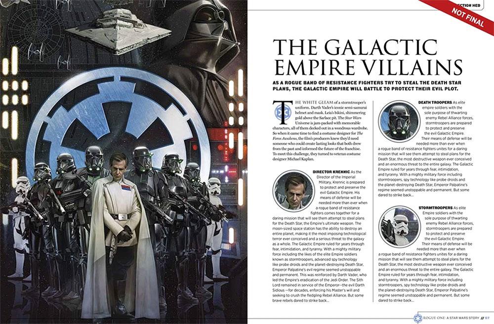 El lado del Imperio en Rogue One: Una Historia de Star Wars