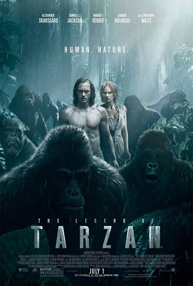 La leyenda de Tarzán... lo mejor la cara del mono de la derecha