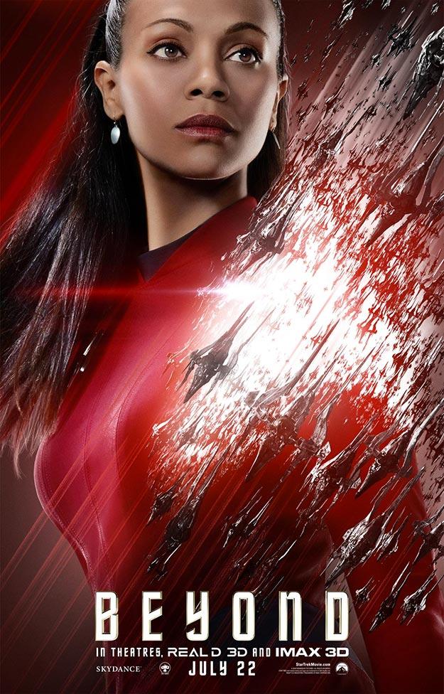 Uhura (Zoe Saldana) en Star Trek: más allá