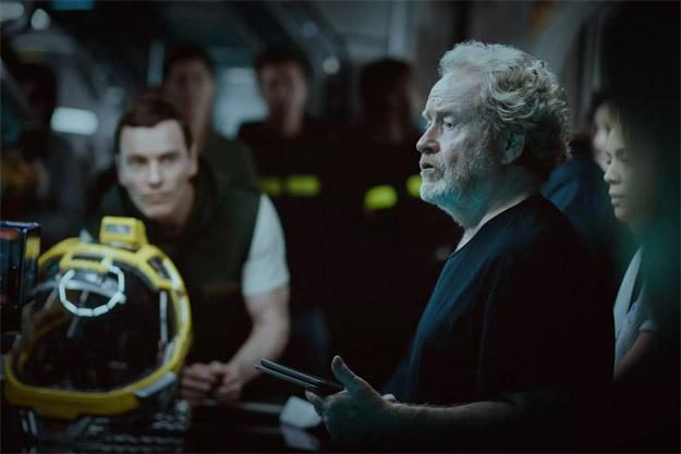 En el rodaje de Alien: Covenant
