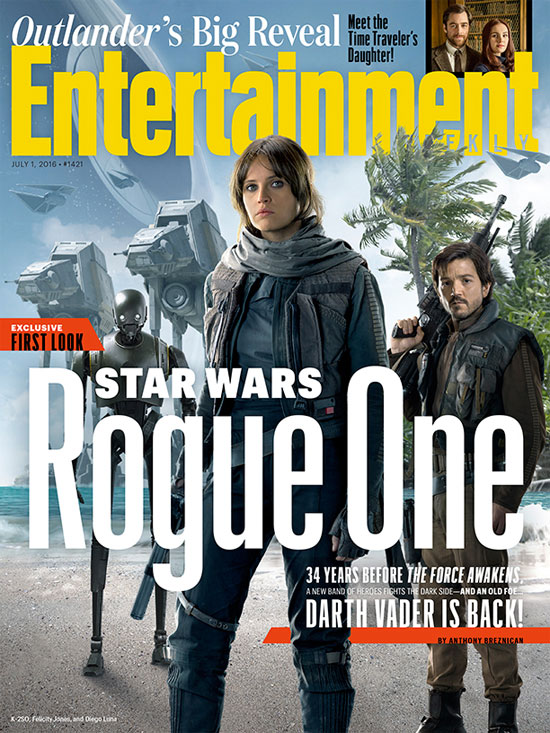 Portada de EW dedicada a Rogue One: Una Historia de Star Wars