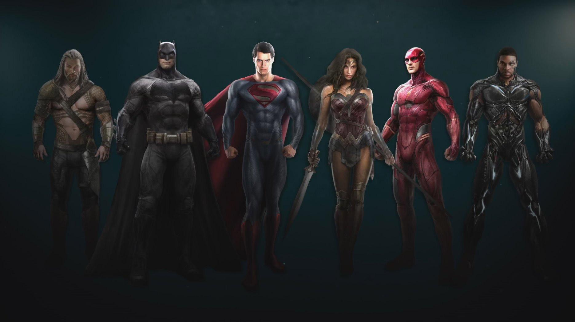 Ojito a este concept art de Justice League porque está el supergrupo al completo