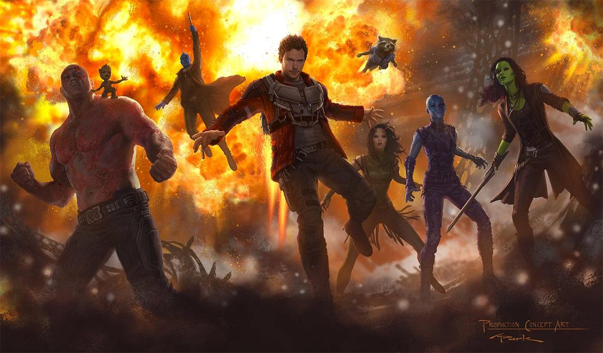 Primer concept art de Guardians of the Galaxy Vol. 2