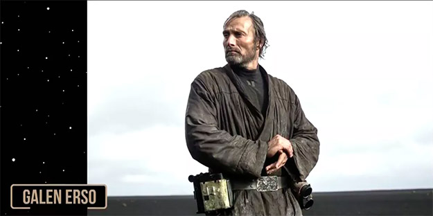 Galen Erso (Mads Mikkelsen) en Rogue One: Una Historia de Star Wars