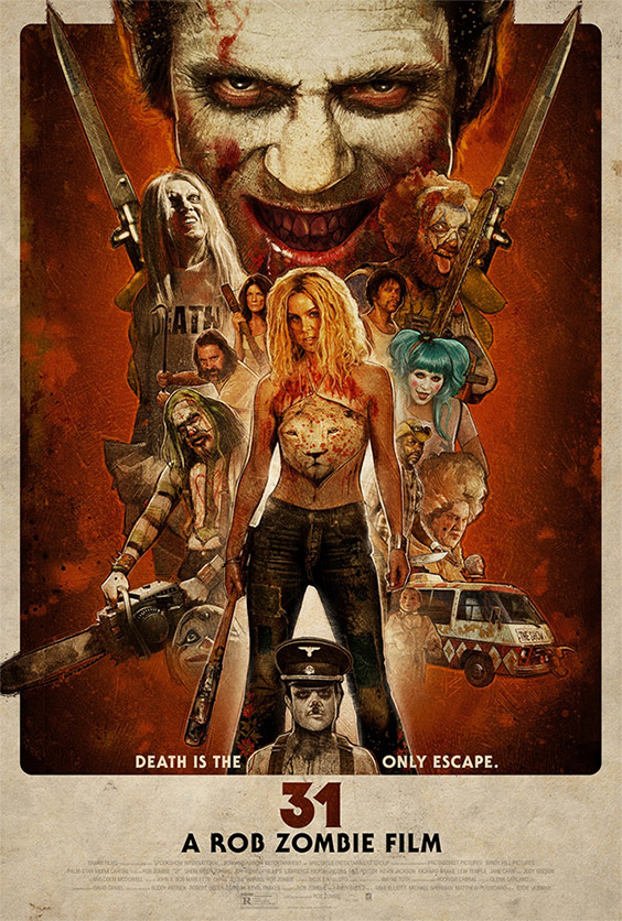 Cartel final de 31 de Rob Zombie