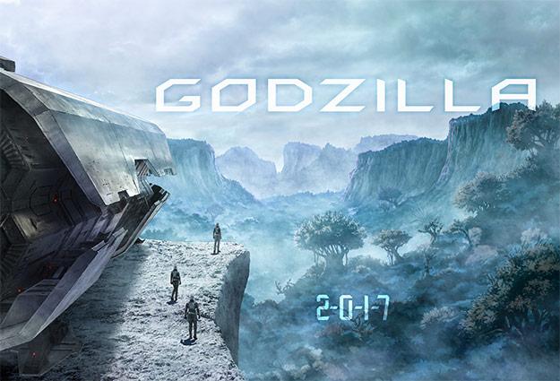 Detalle de concept art del film de Godzilla animado