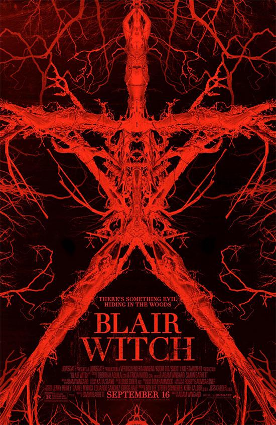 Nuevo rojo cartel de Blair Witch
