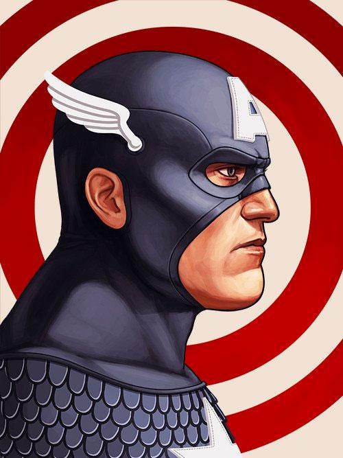 Capitán América y Cráneo Rojo