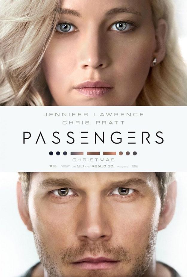 Cartel de Passengers... ¡no pestañean los muy jodidos!