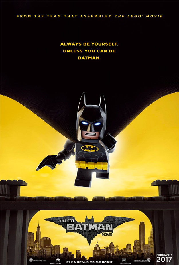 Simpático cartel de The Lego Batman Movie en el #BatmanDay