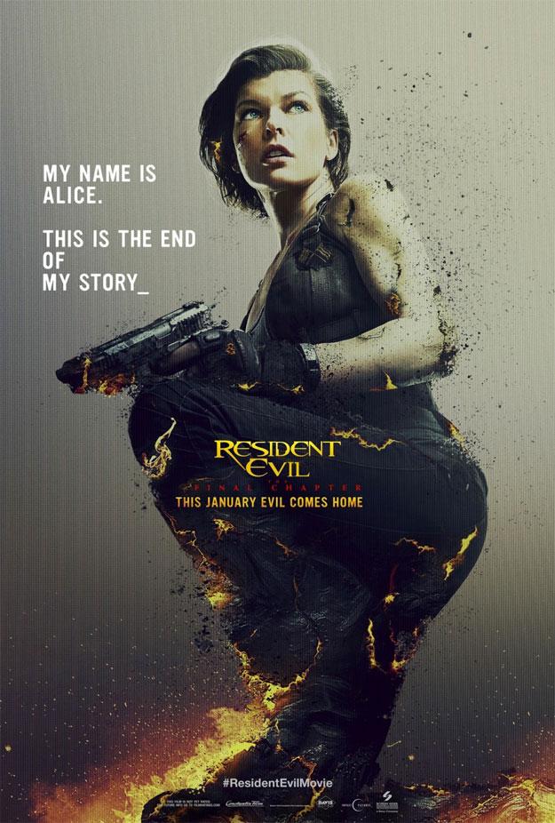 Otro póster más de Resident Evil: The Final Chapter