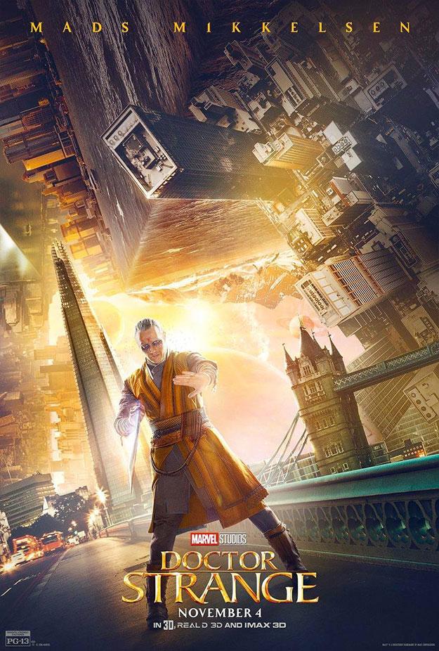 Nuevo cartel de Doctor Extraños... Mads Mikkelsen como Kaecilius