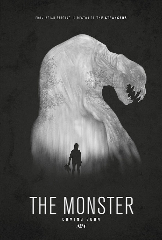 Simple pero eficiente cartel de The Monster