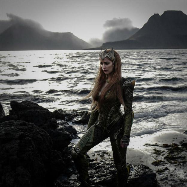 Amber Heard como Mera en Justice League