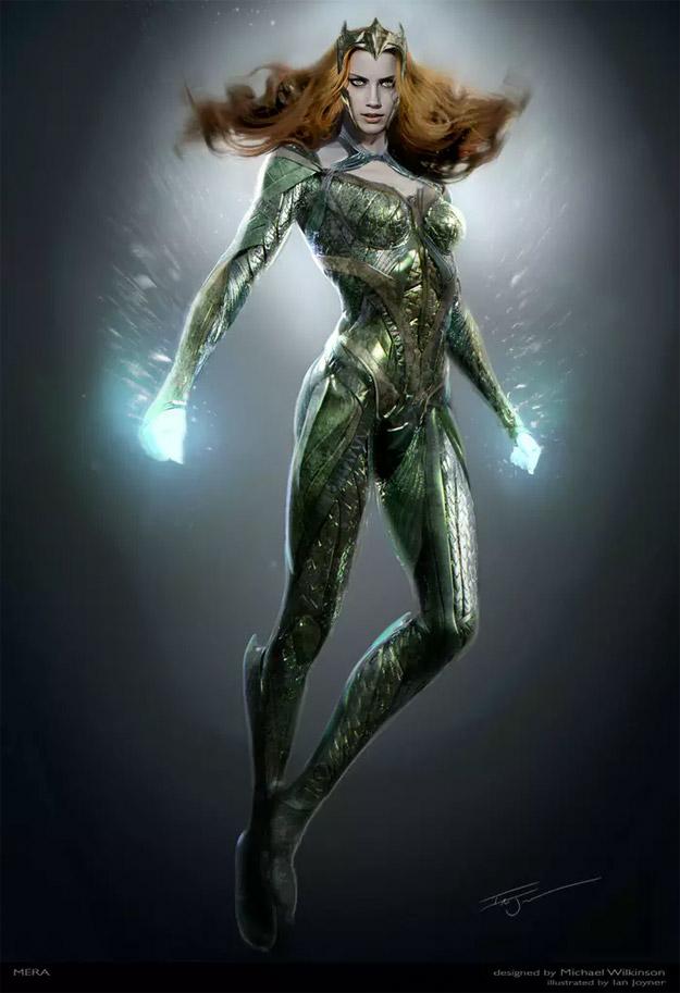 Diseño final del traje de Mera para Justice League