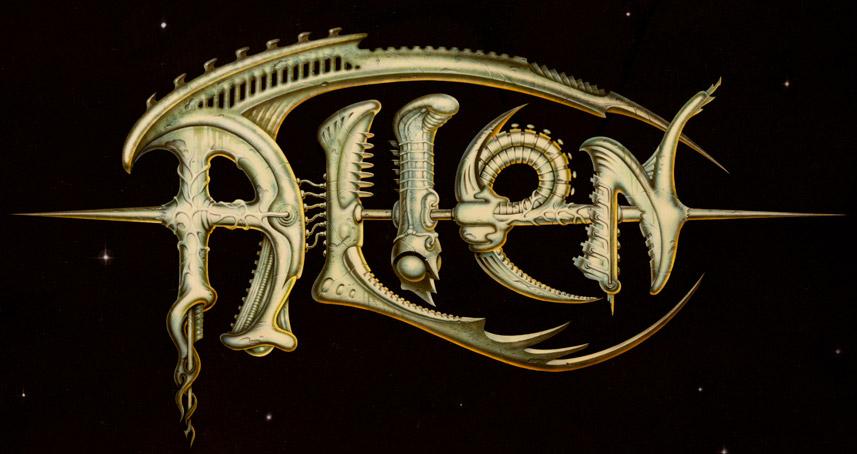 Propuesta de título descartada para el Alien de Ridley Scott obra de Michael Doret