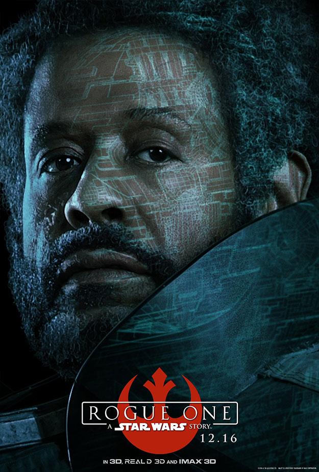 Bodhi Rook y Saw Gerrera en Rogue One: Una Historia de Star Wars