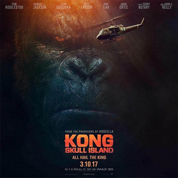 No es tan grande, pero da igual... Kong: la Isla Calavera mola