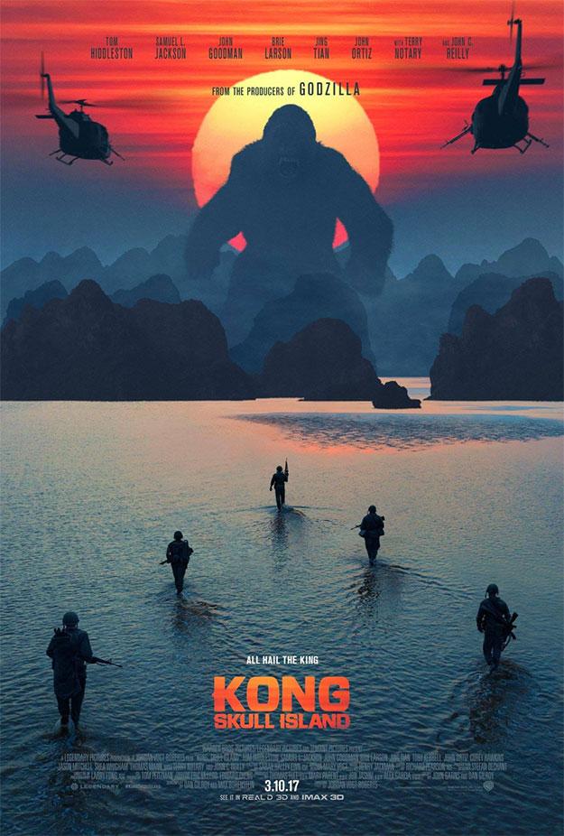 Este cartel de Kong: la isla Calavera me mola un rato largo