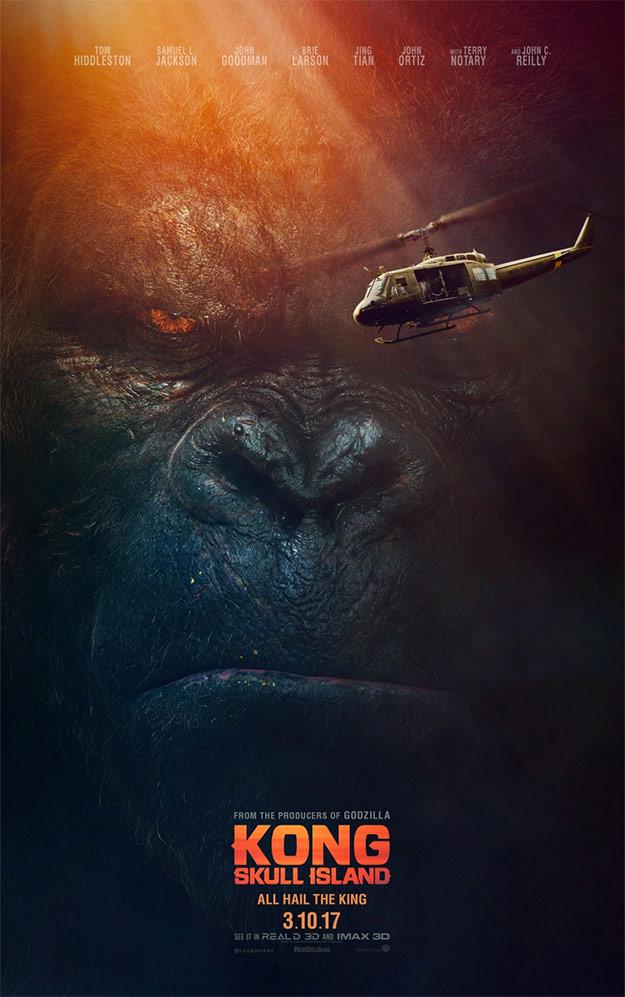El prometido otro cartel de Kong: la Isla Calavera (ya lo conocíamos en formato cuadrado)