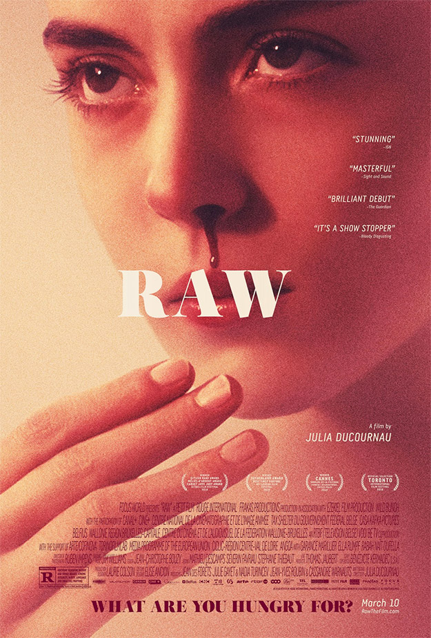 Bonito cartel de Raw (Crudo)