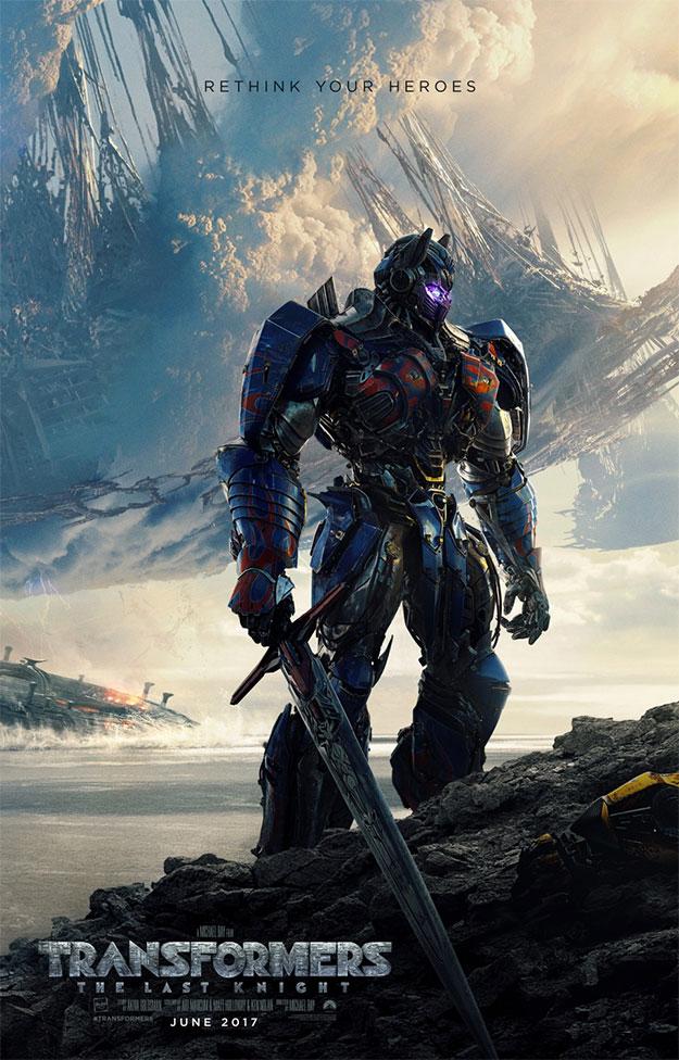 ¡Primer cartel peliculero de Transformers: The Last Knight!