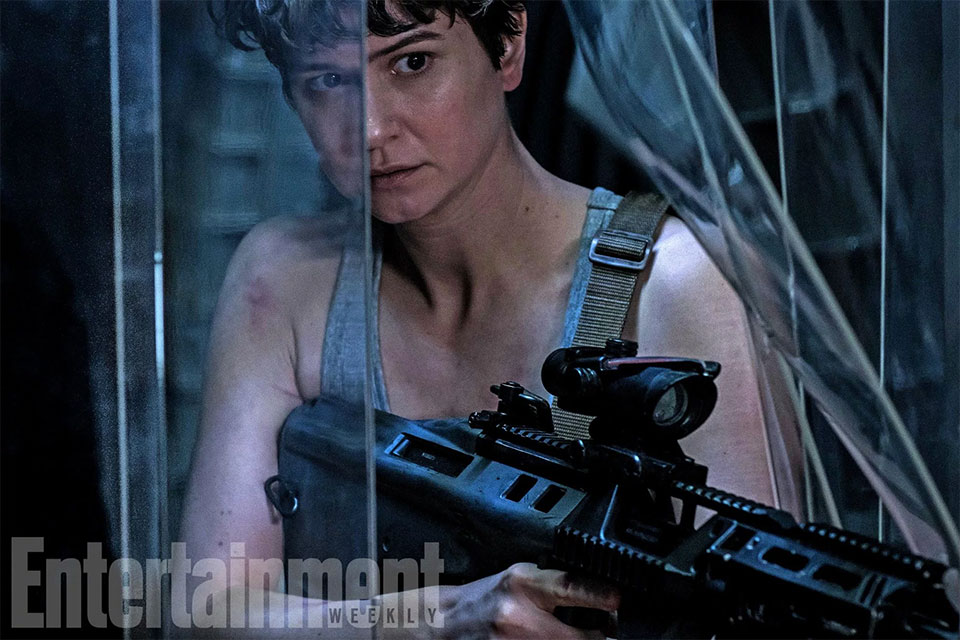 Katherine Waterson a la Ripley en Alien: Covenant