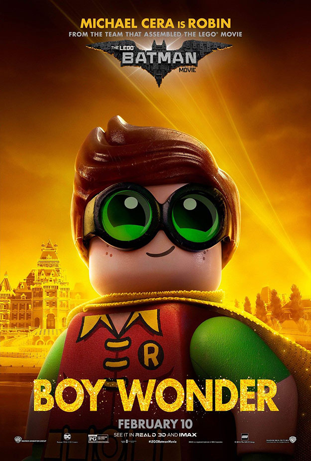 Tres nuevos carteles molones de The LEGO Batman Movie