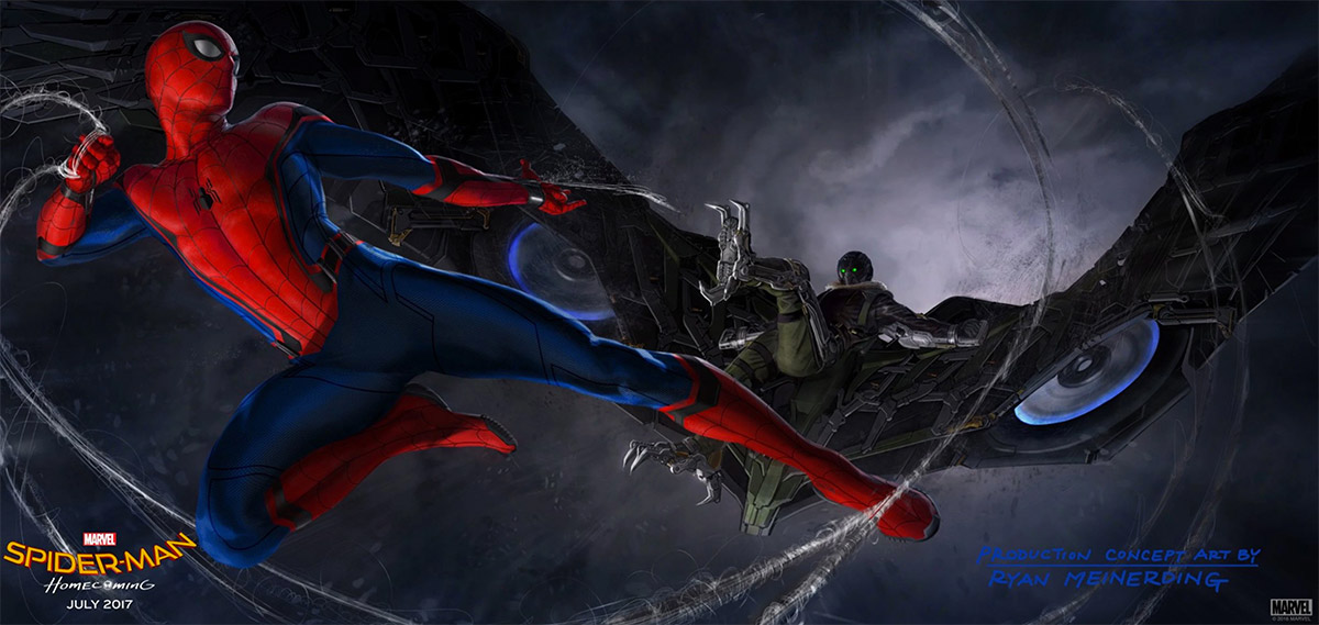 Concept art de Spider-Man: Homecoming