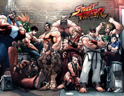 Los personajes de Street Fighter