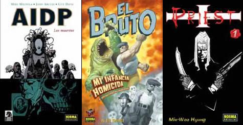 AIDP: Los Muertos, El Bruto, Mi infancia homicida y Priest